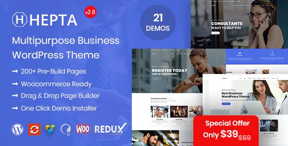 Hepta - Multipurpose Business WordPress Theme