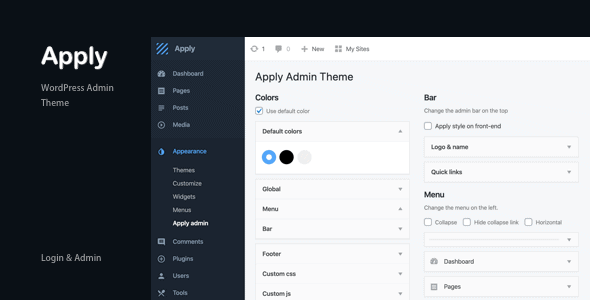Apply - WordPress Admin Theme 5
