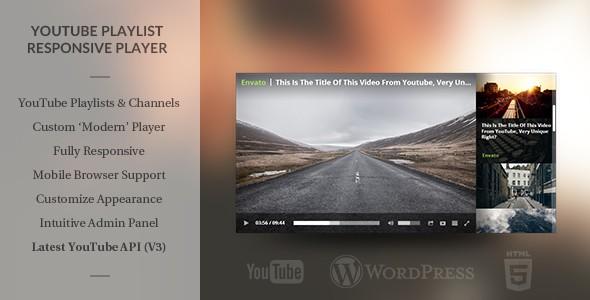 WordPress Responsive Youtube Playlist Video Player 1